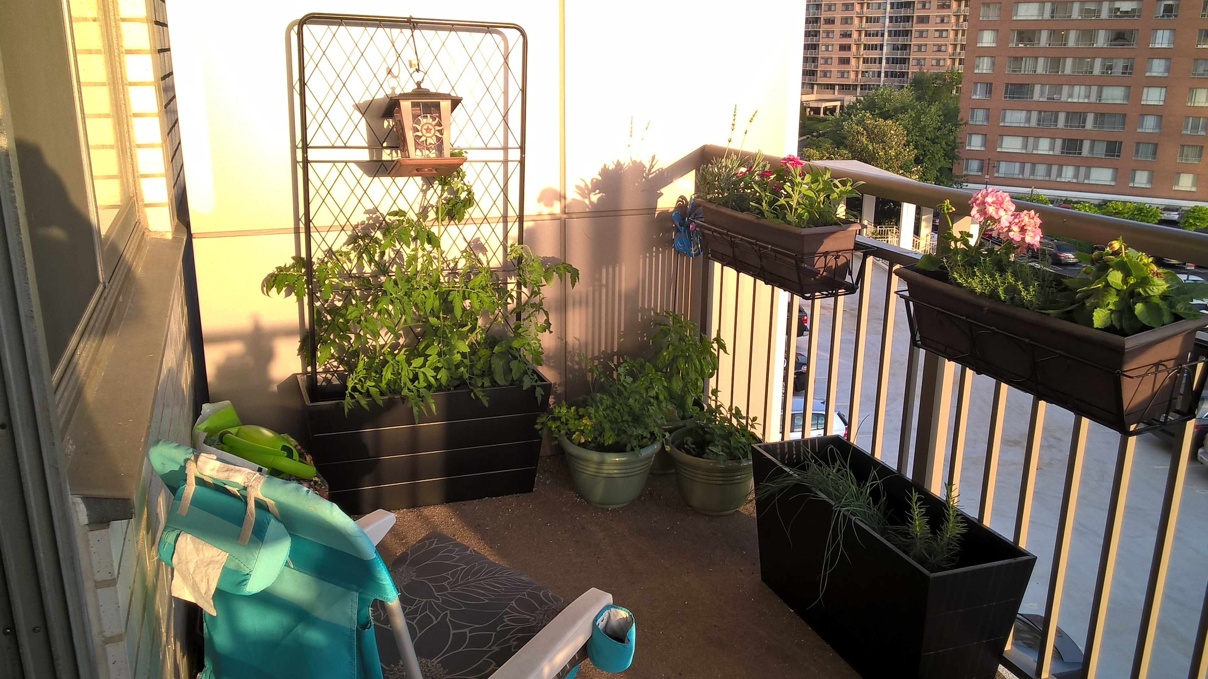 Welling up my space – Balcony